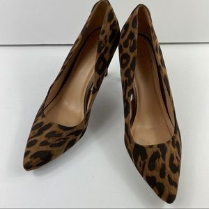 "A New Day Leopard Print Heels 4"" Pumps Pointed Toe"